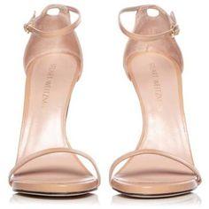 Stuart Weitzman Bambina 'Nudist' Sandal (€355) ❤ liked on Polyvore featuring shoes, sandals, heels, nude heel shoes, stiletto high heel shoes, heeled sandals, nude heeled sandals and heels stilettos