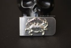 Cancer the Crab Money Clip  Vintage Polished by blackpersimmons