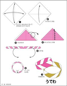 7 steps to a pretty origami kusudama flower easy origami origami easy origami bracelet mightylinksfo Choice Image