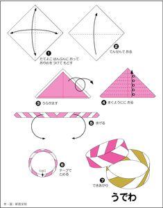 Easy origami bracelet