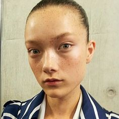 The Freckled Faces of Preen: Spot-On Backstage at London Fashion Week – Vogue
