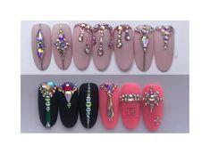 shared by KimsKie's Nails Bling Nail Art, Glitter Nail Art, Bling Nails, Swag Nails, Swarovski Nails, Crystal Nails, Rhinestone Nails, Stone Nail Art, Diamond Nail Art