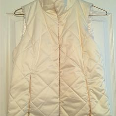 Ralph Lauren Cream Reversible Vest Never worn. Would fit a small-medium (I am a size 6 and it fits, but I do not have any use for it). Price negotiable. Make me an offer! Ralph Lauren Jackets & Coats