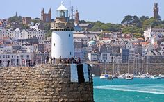St Peter Port, Guernsey's pretty capital, on a fine summer's day