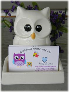 Owl business card holder office desk decor by enchantdmushroomland owl business card holder office desk decor by enchantdmushroomland colourmoves