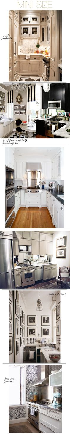 Small Space Kitchens...cute little kitchens...hoping to stretch one of these ideas to my big kitchen