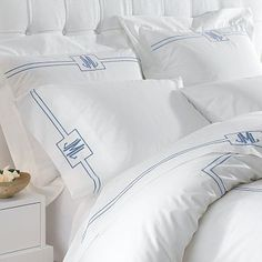White Hotel Bedding - monogrammed