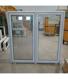 32 X 79 Fibergl Door Slab No Frame This Smooth Comes With A 22x64 Triple Pane Mini Blind Grills Gl Clearance Outlet