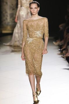 Celebrities who wear, use, or own Elie Saab Fall 2012 HC Embellished Long Sleeve Champagne Dress. Also discover the movies, TV shows, and events associated with Elie Saab Fall 2012 HC Embellished Long Sleeve Champagne Dress. Couture Fashion, Runway Fashion, Fashion Show, Fashion Night, Fashion Beauty, Fashion Design, Vestidos Velvet, Elie Saab Haute Couture, Elie Saab Dresses