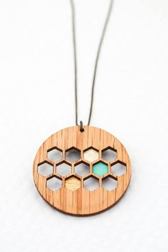 Round Honeycomb Necklace from Bird of Virtue