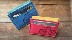 Personalized Leather Card HolderCard WalletLeather by Marcyniuk