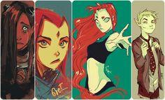 Terra, Raven, Starfire, BB