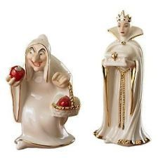 Disney Lenox Snow Whites Hag and the Wicked Queen Salt and Pepper Shakers Set: