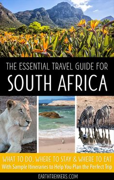 South Africa Travel Guide and Itinerary. Visit Cape Town, Kruger, Johannesburg, Garden Route, Drakensburg, and more. #southafrica #travelguide #capetown #kruger #safari