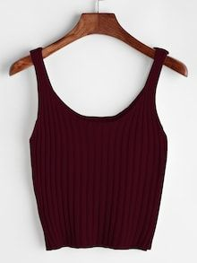 To find out about the Plus Solid Scoop Neck Knit Top at SHEIN, part of our latest Plus Size Knit Tops ready to shop online today! Cropped Tank Top, Crop Tank, Fashion Clothes, Fashion Outfits, Womens Fashion, Women's Clothes, Fast Fashion, Fashion Styles, Fashion Fashion