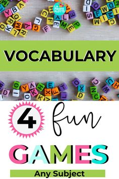 4 FUN VOCABULARY GAMES FOR ANY SUBJECT