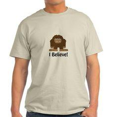 I Believe! Bigfoot T-Shirt on CafePress.com