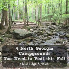 "Looking for camping near Atlanta? Try Blue Ridge or Helen. North Georgia Campgrounds are the perfect ""home base"" for enjoying fall color in the mountains."