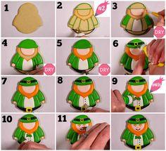 How to Decorate Leprechaun and Rainbow Cookies