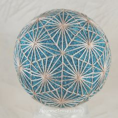 fiber art ornament Silk Diamond Dance Japanese temari ornament on Etsy, $95.00