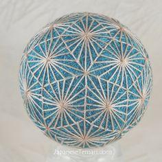 fiber art ornament Silk Diamond Dance Japanese temari ornament on Etsy, $95.00