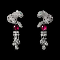 rubies.work/… CARTIER High jewellery earrings
