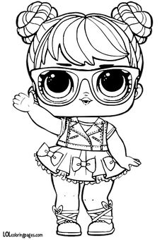 LOL Surprise Doll Coloring Pages Miss Baby - Free Printable Coloring Pages Baby Coloring Pages, Unicorn Coloring Pages, Coloring Pages To Print, Free Printable Coloring Pages, Coloring Pages For Kids, Coloring Sheets, Coloring Books, Kids Colouring, Doll Party
