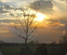 Sunset near Little Rock, Arkansas