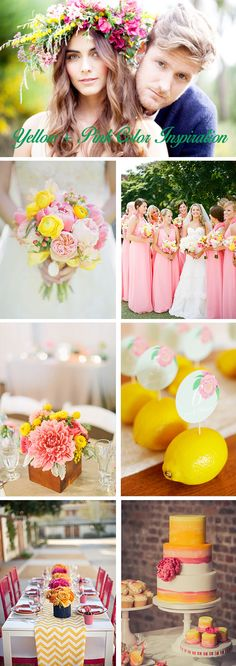 yellow + pink Color Palette Inspiration: Yellow + Pink