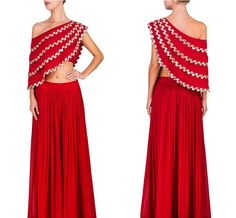 Red one shoulder cape Lehenga  Product Info : Fabric : georgette  Mirror work Unstich blouse fabric  Cape stiched  Skirt semi Stich  Can be made in other colors Making time : 7 to 10 dayz  Price : 3600 INR Only ! #Booknow  CASH ON DELIVERY Available In India !  World Wide Shipping !   For orders / enquiry  WhatsApp @ 91-9054562754 Or Inbox Us  Worldwide Shipping !  #SHOPNOW  #lahengacholi #onlineshopping #bridalwear #glamour #style #quallity #pakistanifashion #designersaree #salwarkameez…