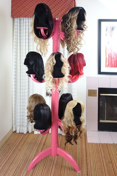 Wig Chateau Premium Wig Display and Storage System Prefundia coming soon page Cosplay Tips, Lace Front Wigs, Lace Wigs, Beauty Room, Hair Beauty, Diy Wig, Hair Stores, Wig Stand, Business Hairstyles