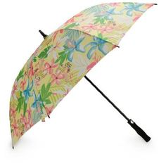 """All For Color Island Oasis Golf #Umbrella Product Details Brighten up those rainy days out on the course with the All For Color golf umbrella. An auto open design makes it one item you can't be without. Includes matching cover.  Auto open design 54"""" Canopy Dimensions: : 54"""" x 37"""" Material: 100% Polyester Imported"""