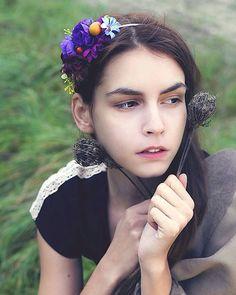 Martinuska / Fresh violet Handmade Headbands, Crown, Fresh, Jewelry, Corona, Jewlery, Jewerly, Schmuck, Jewels