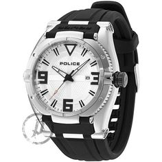 Police - Mens Black Rubber Strap White Dial Raptor Watch - 13093JS-04  Online price: £140.00  www.lingraywatches.co.uk