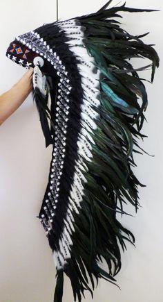 Amazing!!! Extra Large Indian  Feather Headdress White by THEWORLDOFFEATHERS, $169.90