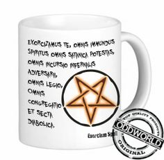 SUPERNATURAL EXORCISM SPELL  coffee mug by TheOddworldStore, $12.95