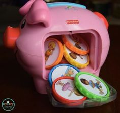 FREE piggy bank coin labels to target early language including verbs, adjectives, emotions, basic nouns, and MORE! From Speechy Musings.