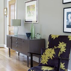 Love the painted sideboard