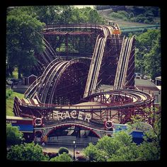 The one & only Racer, a John Miller classic! It's the ONLY single track, racing coaster in United States!