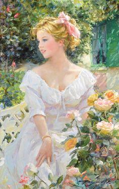 42 Ideas for art painting classic impressionism Victorian Paintings, Victorian Art, Foto Fantasy, L'art Du Portrait, Portraits, Art Vintage, Classical Art, Renaissance Art, Woman Painting