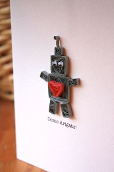 Robot Thank You Card  Unique Greeting Card  by SweetSpotCardShop, $6.50