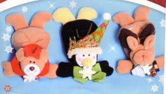 oso, pinguino y reno acostados para arbol 35