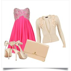 Pink & Cream, created by kcb003 on Polyvore