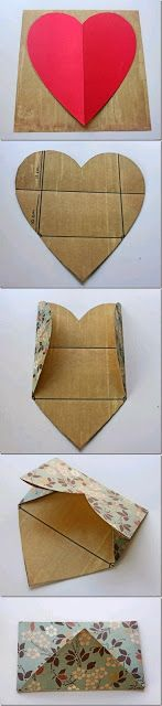 FREEBIES FOR CRAFTERS: Envelope from a Heart