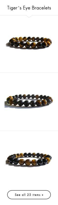 """Tiger´s Eye Bracelets"" by zenstore ❤ liked on Polyvore featuring Swell, jewelry, bracelets, bracelet jewelry, bracelet bangle, tiger eye jewelry, tiger eye bracelet, tourmaline bracelet, tourmaline jewelry and hematite jewelry"