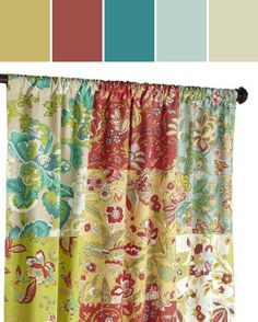 Floral Medley Curtain Designed By Pier 1 Imports via Stylyze