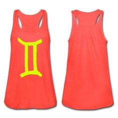 Neon Yellow Gemini tank by SHOPSSS - http://www.simplysunsigns.com/p/shop-simply-sun-signs.html