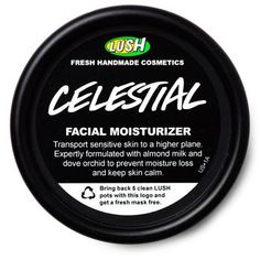 Celestial - Moisturizer For redness and sensitive skin. Contains almond oil and milk, vanilla water, cocoa butter, and dove orchid extract (dendrobium) - $25.95 from LUSH