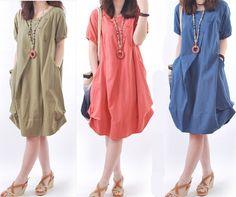 casual linen dresses - Google Search