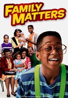 Family Matters - Family Matters was a sitcom about an African American family that lives in Chicago, Illinois. It ran for 9 seasons, making it one of the longest running sitcoms. It includes its breakout star, Jaleel White, also known as Steve Urkel. Black Sitcoms, Steve Urkel, Black Tv Shows, Plus Tv, Old Shows, Family Matters, Film Serie, Romance, Classic Tv